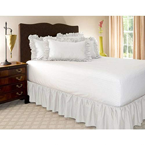 Pliegues de cama elásticos alrededor de la falda de la cama, volantes de polvo plisado Cubre Canapé Medidas canapé Faldón de volantes con banda Cubre unda de somier...