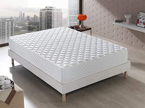 Colchón Senator Viscoelástico 135x190x20 cm. Confort de Hotel, Reversible (Invierno/Verano). Acogida con firmeza Media, 20 cm de ALTURA.