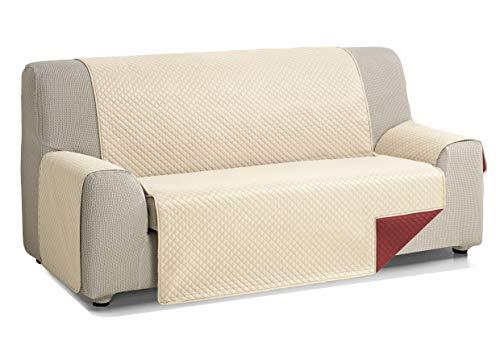 Martina Home Cubre Sofa Acolchado Diamond, Beige - Rojo, 4 Plazas