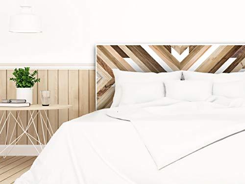 setecientosgramos Cabecero Cama PVC   Wood Deco   Varias Medidas   Fácil colocación   Decoración Dormitorio (150x60)