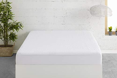 Easycosy - Protector de Colchón Impermeable Dreams - Cubre Colchón Acolchado Transpirable Cama 90cm (90x190/200cm) - Color Blanco