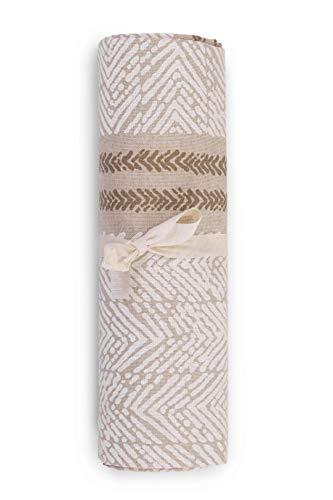 HomeLife - Tela decorativa para sofá, diseño de rayas, 1 plaza, fabricada en Italia – Sábana multiusos de algodón – Granfoulard para cama individual – Plaid de algodón de verano [160 x 280...