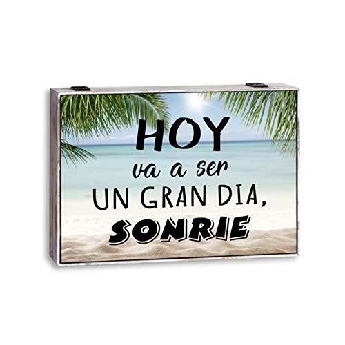 D,casa - Tapa de Contador Original con Frases Decorativas Sonrie