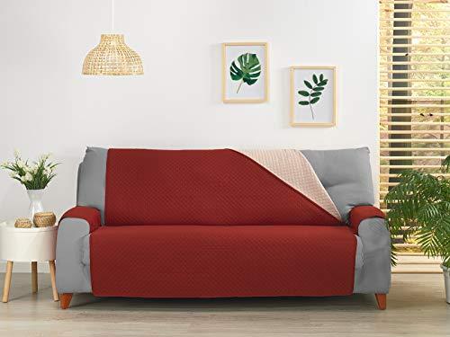 NH NOVOTEXTIL HOGAR Funda Cubre Sofá, Protector para Sofás Acolchado y Reversible, Varios tamaños y Colores. (Sofa 2 PLAZAS, Burdeos)
