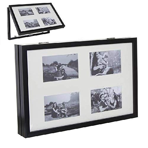 c.lama Tapa Contador Multifotos Marcos de Fotos Decoración del hogar Unisex Adulto, Negro (Negro), única