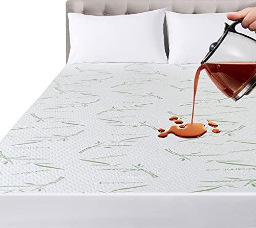 Utopia Bedding Impermeable Protector De Colchón De Bambú 180 x 200 x 30 cm, Funda De Colchón Premium, Transpirable, Estilo Ajustado Todo Elástico