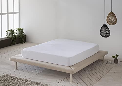 Protector de colchón, Cubre colchón de Rizo Suave, Impermeable, antiácaros 135x190/200 - Cama 135 (Todas Las Medidas)