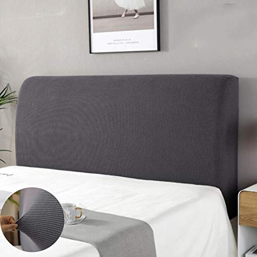 funda para cabecero,Funda de Cabeceros de cama Diseño elástico de protección integral Para la decoración del dormitorio Gris 150cm Adecuado para cabecero de 140-170 cm