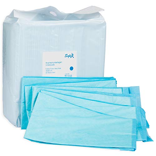 Almohadillas desechables para incontinencia 50 piezas 60x90cm 6 capas azul, absorbencia, Protector para cama, almohadillas de higiene