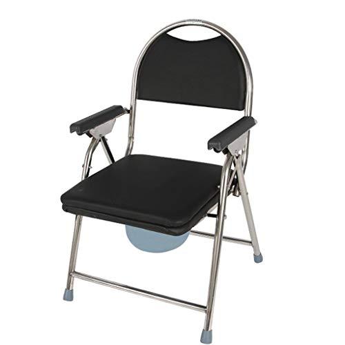 Silla para ir al baño, Ancianos Mayores Discapacitados Discapacitados Abuelos Aseo junto a la cama, Inodoro junto a la cabecera Con sartén, Inodoro cómodo, Silla de baño ZHANGAIZHEN