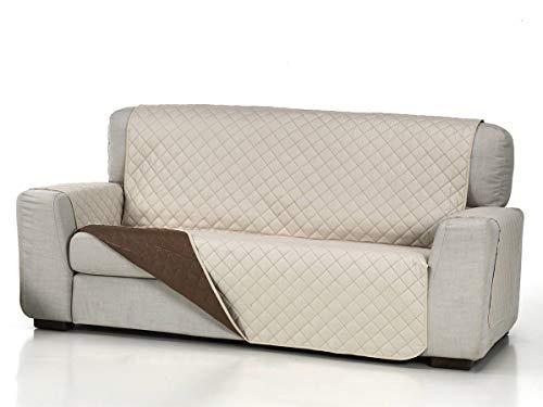 Lanovenanube - Funda sofá Acolchado - Práctica - 3 plazas Plus - Color Beig C02