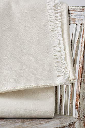 Textilhome - Funda Multiusos Foulard Cubre Cama Dante - 230x285 cm - para Funda Sofa 3 Plazas, Protector Cubre Sofa. Color Crudo