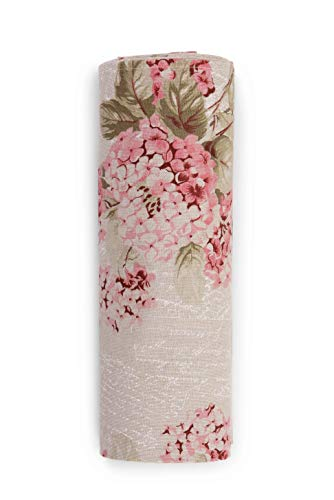 HomeLife - Tela Decorativa para sofá con Estampado Floral Rosa, Fabricada en Italia – Sábana Multiusos de algodón – Granfoulard Colcha Cama de Matrimonio – Plaid algodón Verano [260 x 280]