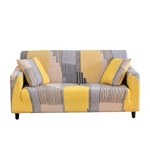 WINS Fundas de sofá Ajustables elástica 4 plazas Fundas Sofa Funda Sillon Cubre Sofas Protector de sofá elástico Modernas Universal