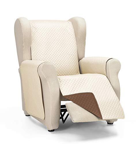 Martina Home Diamond Cubre Sofa Acolchado Reversible, Beige/Marrón, 1 Plaza/Relax