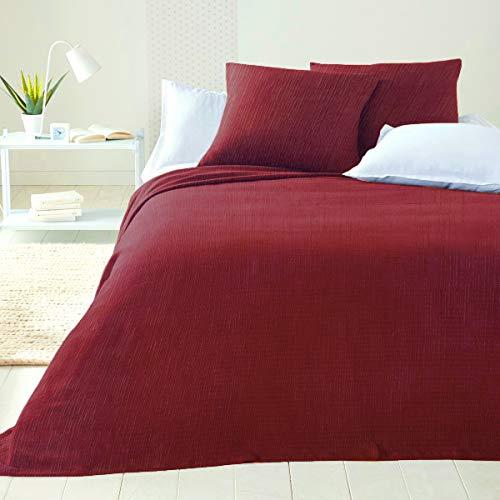 Byour3 Colcha de algodón para cama de matrimonio, no necesita planchado, para cama individual de plaza y media, artesanal, primaveral, verano, decoración, cubrecama, multiusos