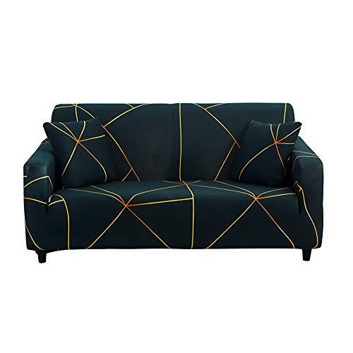 Hotniu Funda Sofa Elasticas 4 Plazas Fundas de Sofa Ajustables Fundas Decorativa para Sofá Estampadas Impresa Cubre Sofa con 1 Funda de Cojín, Patrón Lgyc