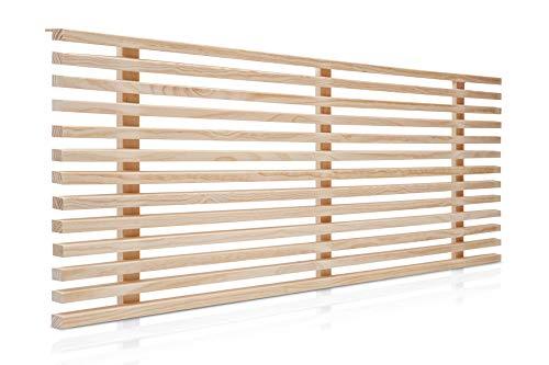 SUENOSZZZ-ESPECIALISTAS DEL DESCANSO Cabecero de Cama de 150 Modelo Osaka, Color Crudo 160x50 cm | Cabezal de palillería de Madera