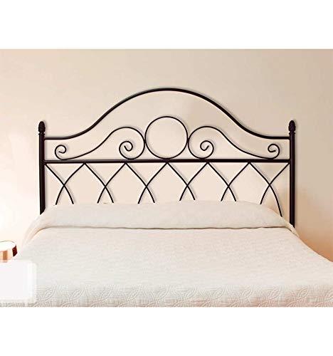 Forja Hispalense Cabecero de Cama de marimonio Íllora - Negro, Cabecero para colchón de 150 cm