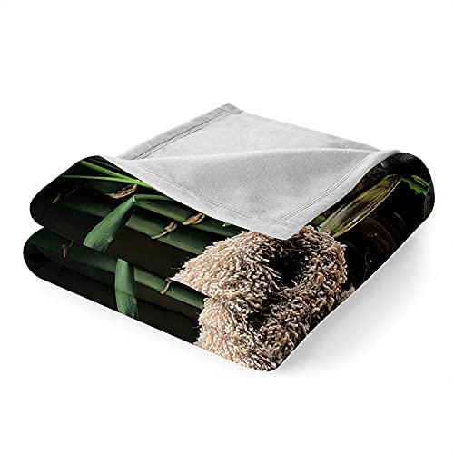 Mantas para Sofa, Verano Manta de Franela Mantas para Cama Polar Súper Suave, Batamanta para Cama o Sofá 150x200 cm Piedra Zen