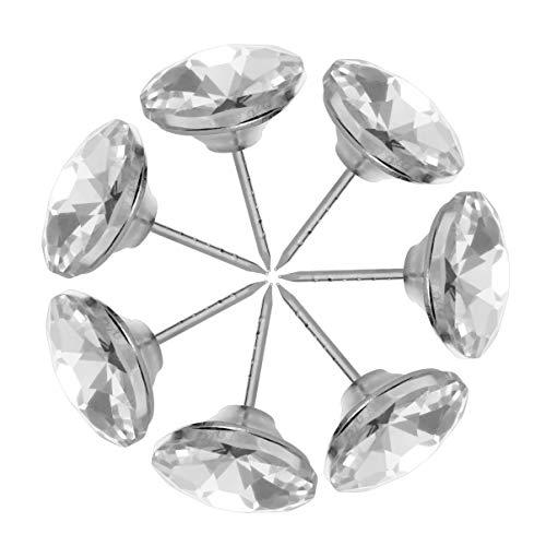 MILISTEN 20 Piezas 25 Mm Botones de Costura Tapicería de Cristal de Diamante Sofá Cabecero Muebles Tachuelas Decoración de La Pared