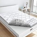 BedStory - Protector de colchón antiácaros (140 x 190 x 5 cm, 3D, microfibra de alta densidad 1000 g/m2, transpirable, suave, ideal para mejorar la comodidad del colchón.