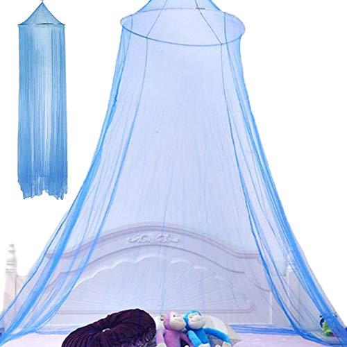 Mosquitera Cama, NALCY Mosquitera, Dosel para Cama, Mosquitera de Poliéster con domo, red Colgante para Cubrecamas, se Puede utilizar para Decorar la Habitación y Prevenir Insectos (azul)