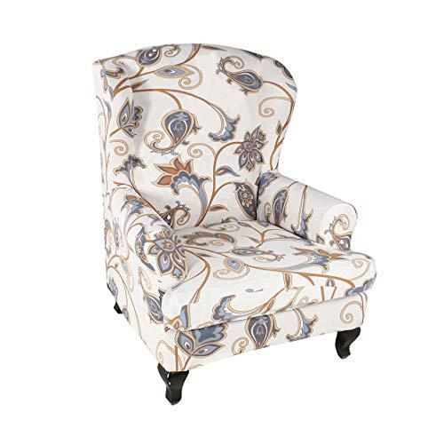 Facai - Funda de sillón con orejas, extensible, estampada, funda de sofá, elástica, funda para sillón relax, lavable, funda de sillón #10