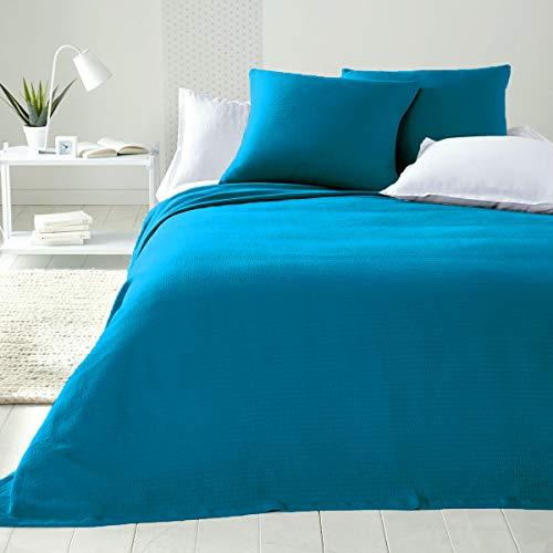 Byour3 - Colcha de algodón para cama de matrimonio, no necesita planchado, para cama individual, de plaza y media, artesanal, para primavera, verano, manta decorativa multiusos