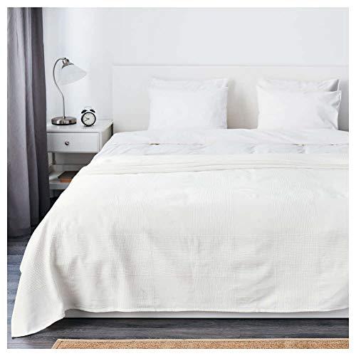 Colcha Ikea Asia Indira, color blanco