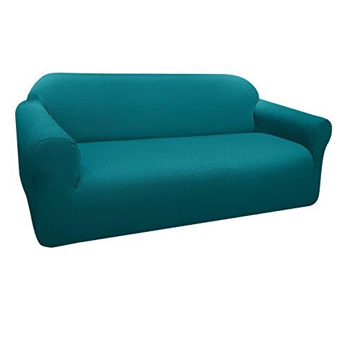 Granbest Funda de Sofá Elástica Súper Gruesa con Diseño Elegante Universal Funda Sofá 4 Plaza Antideslizante Protector Cubierta de Muebles (4 Plaza, Verde Negruzco)