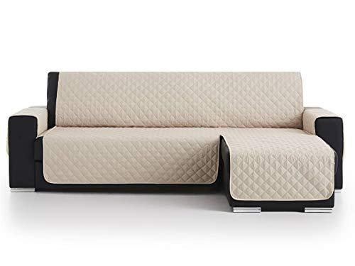 Lanovenanube - Funda Chaise Longue Acolchado - Práctica - Izquierda 240 cm - Color Beig C02