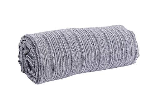 HomeLife - Tela decorativa para sofá Melange de 260 x 260 cm, fabricada en Italia   Colcha de matrimonio primaveral y verano   Granfoulard para cama de dos plazas   Sábana cubretodo [gris]