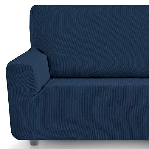 Eiffel Textile Funda Sofa Elastica Protector Adaptable Rústica Sofá, Azul, Pack 3+2 Plazas