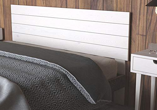 LA WEB DEL COLCHON - Cabecero de Madera Austin Vintage para Cama de 135 (145 x 90 cms.) Blanco nórdico | Cabeceros Madera | Dormitorio Matrimonio | Cabezal Cama | Cama Juvenil |Estilo nórdico
