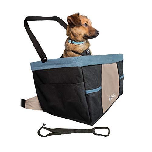 Kurgo Asiento de Coche para Perros Estilo Rover - Asiento Elevador para Mascotas - Asiento de Seguridad para Mascotas - Incluye Correa de Seguridad 1800 g