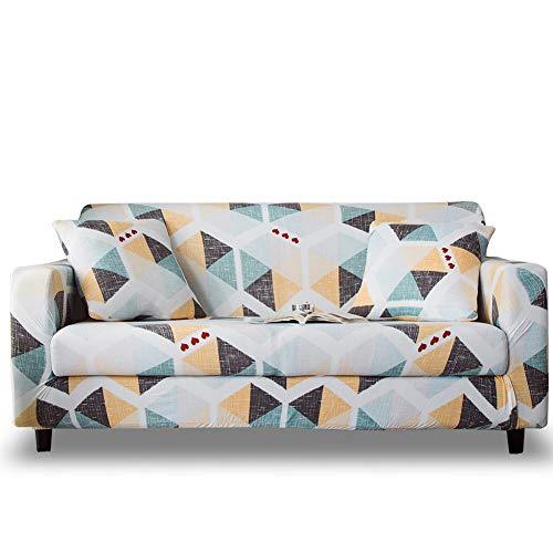 HOTNIU Funda Sofa 4 Plazas Fundas de Sofa Elasticas Fundas para Sofá Ajustables Estampada Cubre Sofa con 1 Funda de Cojín, Cuatro Plazas, Impresión #Xy
