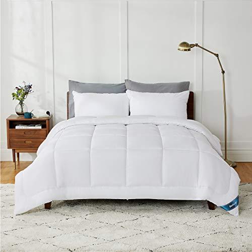 Bedsure Edredón Nórdico Relleno Cama 90 Verano - 155x220 cm Blanco, 180 gr/m² de Fibra Suave y Antiácaro, Reversible y Moderno