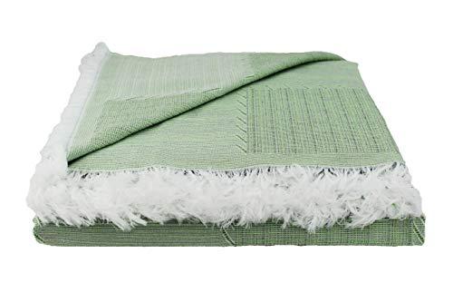 Desconocido Colcha Multiusos para Sofa, Manta Foulard, Plaid, cubrecama. (Verde, 230x290)