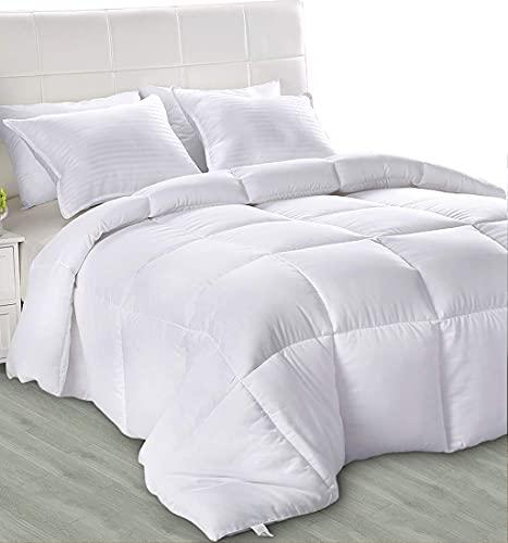 Utopia Bedding - Primavera-Verano Edredón de Fibra 155x220 cm Cama 80/90 - Fibra Hueca Siliconada, 680 gramo (Primavera-Verano, Cama 80/90)