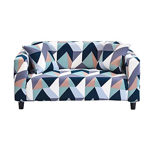 Hotniu Funda Sofa Elasticas 2 Plazas Fundas de Sofa Ajustables Fundas Decorativa para Sofá Estampadas Impresa Cubre Sofa con 1 Funda de Cojín, Patrón Dcg