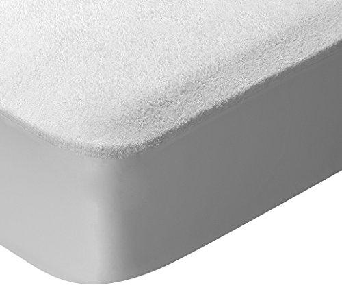 Pikolin Home - Protector de colchón, tejido rizo, algodón, impermeable y transpirable, antiácaros, 150x190/200cm-Cama 150 (Todas las medidas)