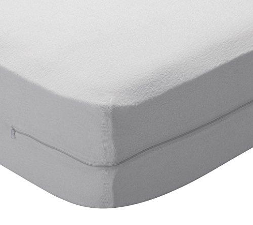 Pikolin Home - Funda de colchón de algodón de rizo elástica transpirable que cubre los 6 lados de colchones de hasta 28 cm de altura