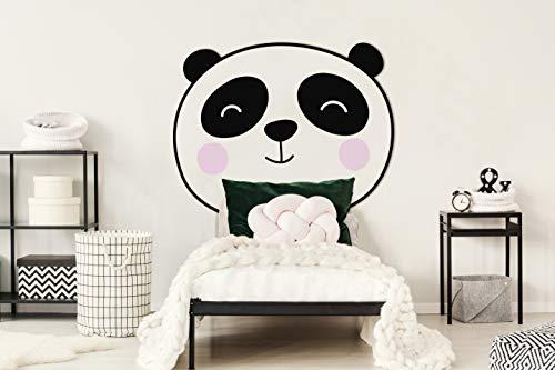 Oedim Cabecero Infantil Cama PVC Animales Panda 100x120cm   Cabecero Ligero, Elegante, Resistente y Económico