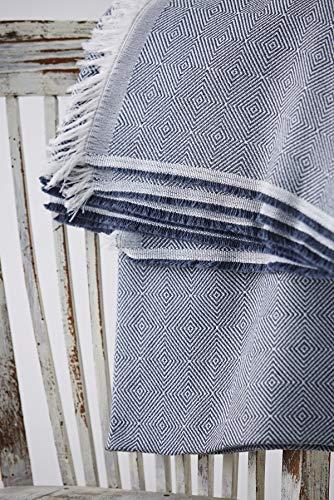 Textilhome - Funda Multiusos Foulard Cubre Cama Dante - 230x285 cm - para Funda Sofa 3 Plazas, Protector Cubre Sofa. Color Azul