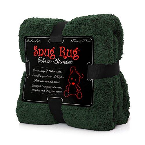 Snug Rug Special Edition Luxury - Manta de Lana Sherpa, 127 x 178 cm (Verde)
