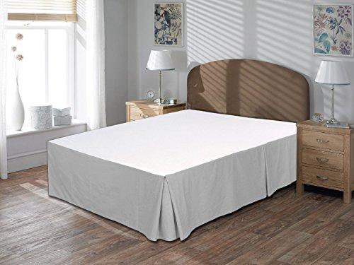 Comodidad beddings 1pieza cubre canapé 17'drop Longitud de 600hilos Euro rey IKEA tamaño 100% algodón egipcio sólido, plateado, Euro KingIKEA