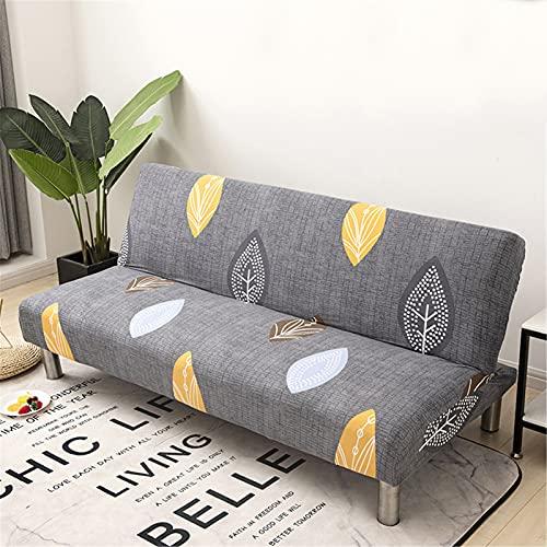 XJHKG Funda De Sofá Sin Brazos, 3 Plazas Plegable Elástica Cubierta Funda para Cubre Sofá Cama Clic Clac Protector para Futón Couch Bench (A-14,M(150-190cm))
