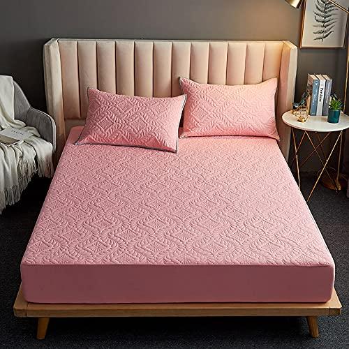 BOLO Colcha de algodón con retazos de patchwork, hecha de manta acolchada transpirable, sábanas acolchadas e impermeables con,90x200+25cm