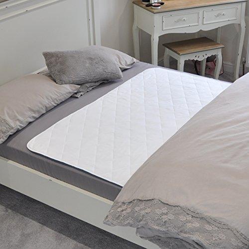 Cubrecama impermeable de GuardedSleep | Sábana lavable de alta calidad para adultos o niños con incontinencia | Apta para camas matrimoniales y de una plaza | Blanco Discreto